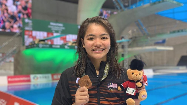 Malaysia's Dhabitah Sabri Has Won The Country's First Ever 3m Springboard Medal In The Diving World Series!