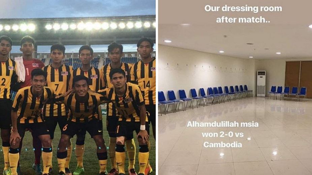The Malaysian Under-19 Football Team Cleaned Up Their Dressing Room At The AFF U-19 Championship!