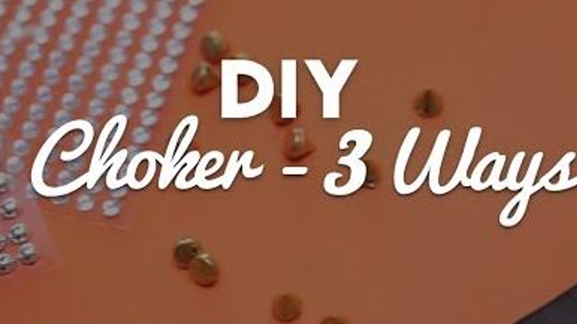 This DIY Choker Will Be The Perfect Accessory To Complete Your Weekend Look!