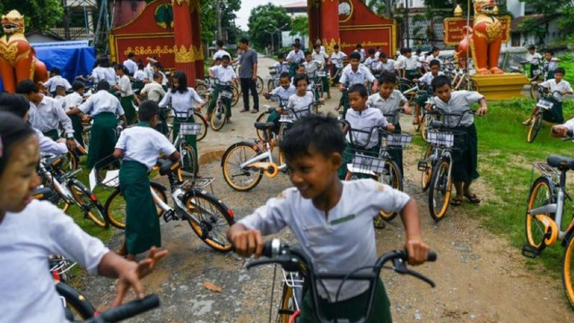 Recycled Bicycles from Singapore and Malaysia Are Going Towards Myanmar Students!