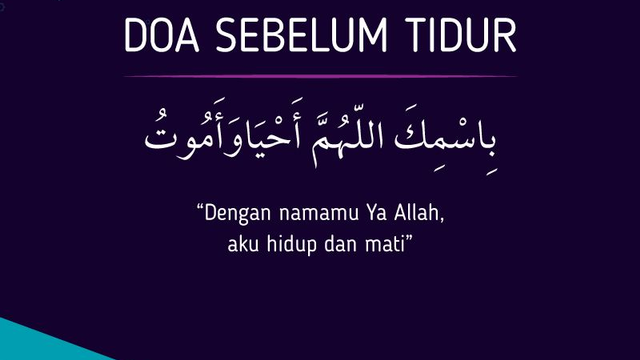 Amalkan Doa Sebelum Tidur Dan Doa Bangun Tidur Semoga