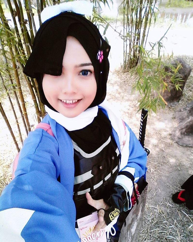 Anime Yang Berhijab Bukan Halangan Gadis Ini Untuk Gayakan Watak
