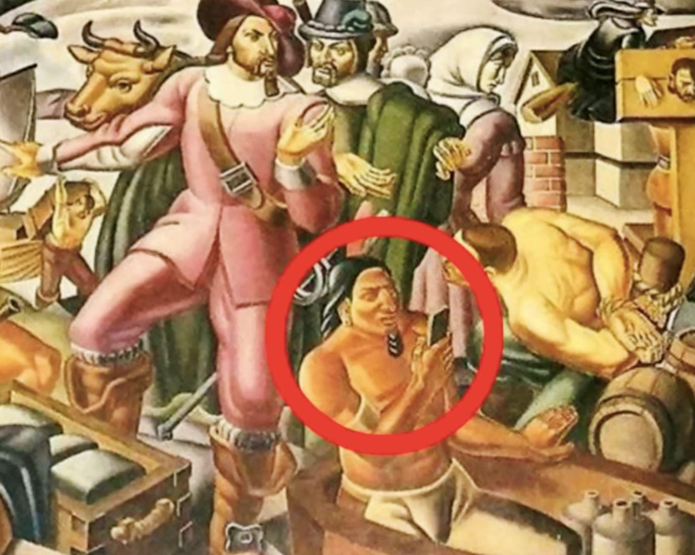 lelaki pegang smartphone dalam lukisan 400 tahun lalu timbul tanda tanya