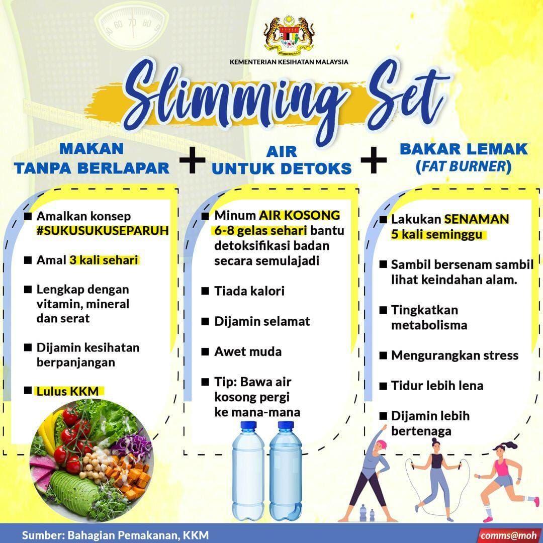 lemak bertahun takkan hilang sehari, kkm kongsi rahsia mudah turun berat badan