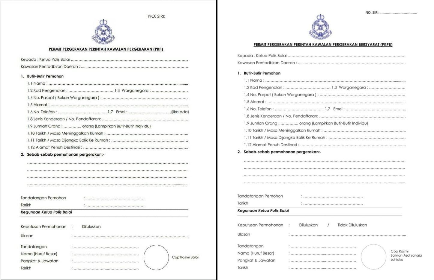 cara mohon permit pergerakan pkp & pkpb bagi tujuan rentas negeri