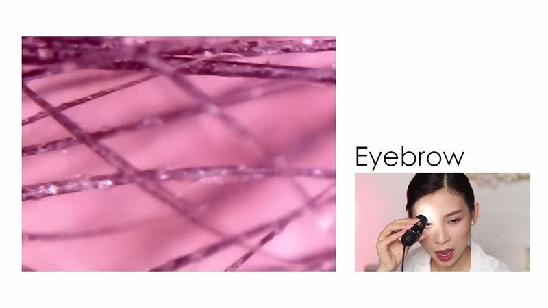 terkejut bila letak mikroskop dekat kulit yang di make up