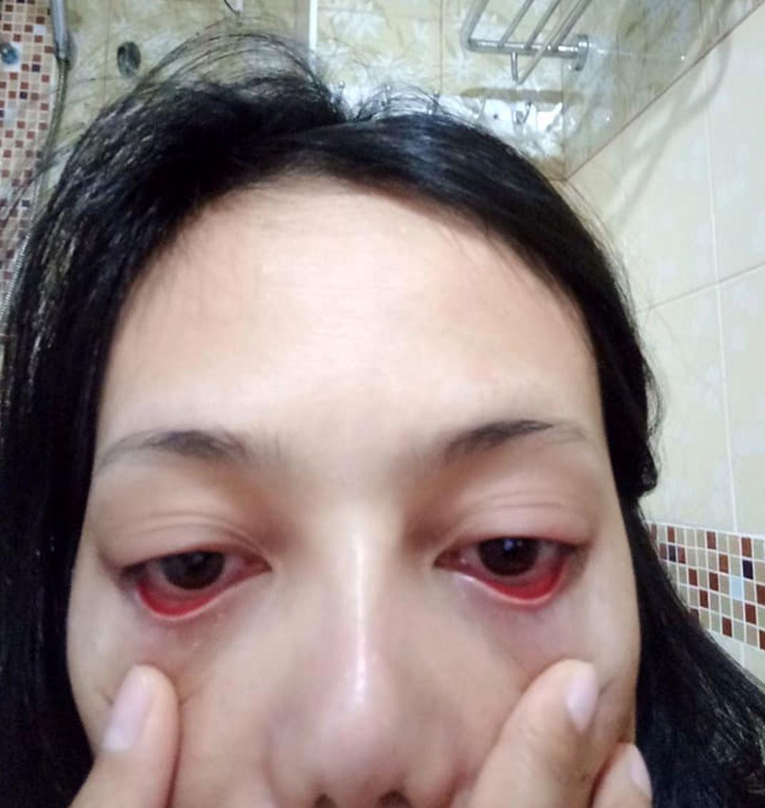 wanita pergi salon nak panjangkan bulu mata, bila balik salon bulu mata tiada
