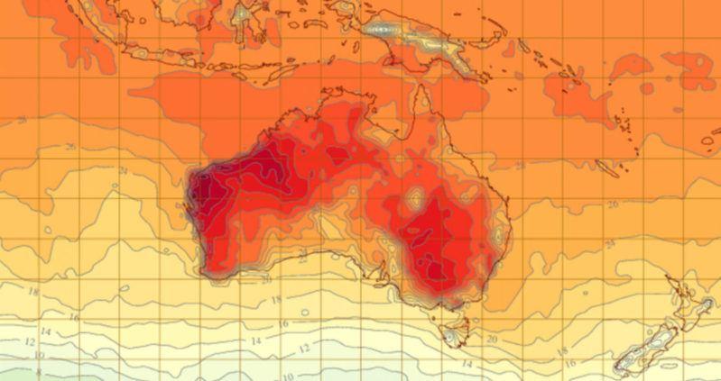 amaran cuaca, suhu di uk bawah sifar, australia pula terlampau panas