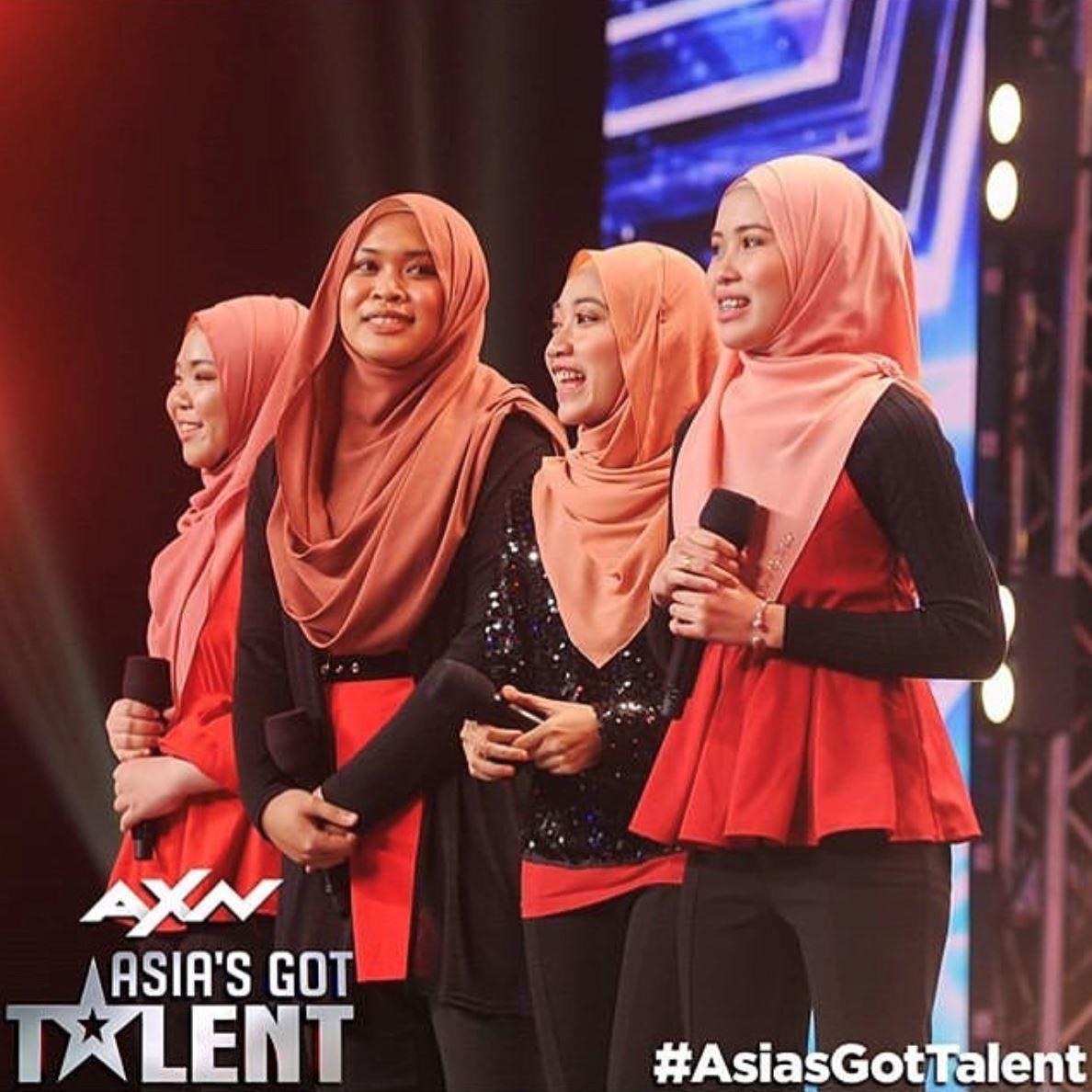 4 gadis berhijab dari malaysia pertaruh suara berjaya ke semi final asia got talent