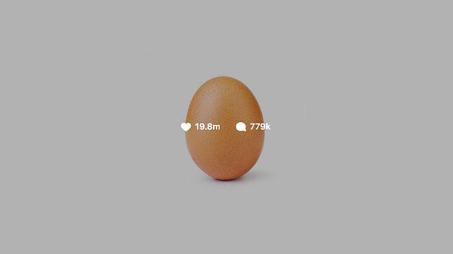 gambar telur dapat like paling banyak di instagram, kalahkan gambar kylie jenner