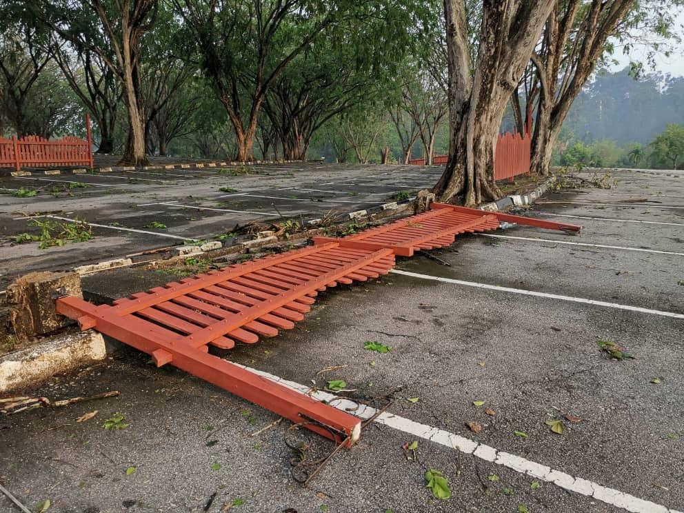 banyak pokok tumbang, taman botani shah alam di tutup sementara