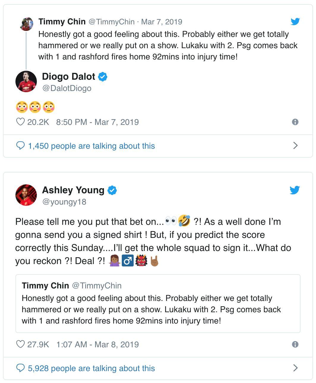 ramalan tepat pemuda malaysia ni tarik perhatian pemain manchester united