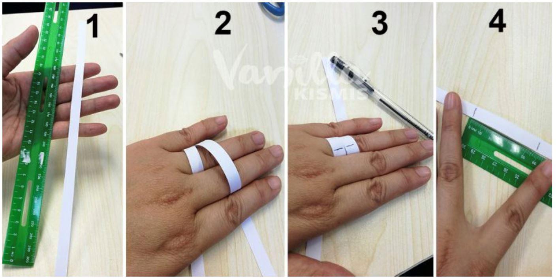 ini cara nak ukur saiz cincin pada jari korang, guna pembaris je