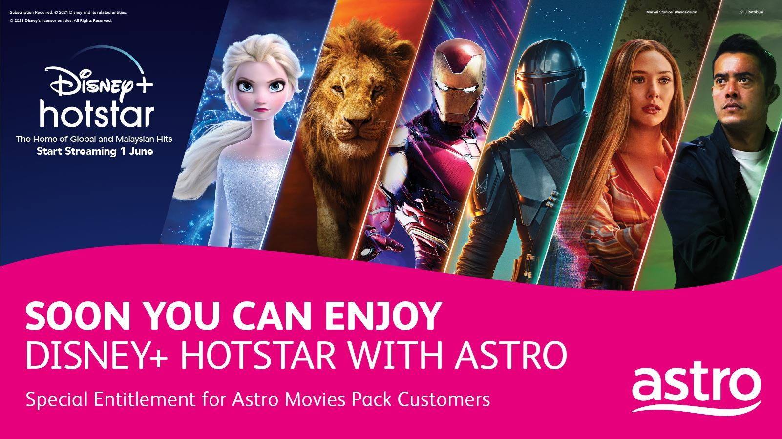 astro 电影配套客户很快即能享受 disney+ hotstar 线上串流服务