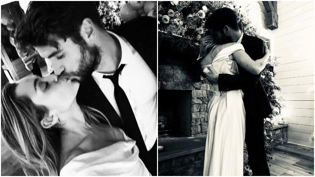 Miley Cyrus And Liam Hemsworth Confirmed Their Wedding By Posting These Stunning Photos!