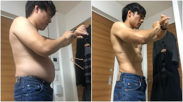 Japanese Man's Daily 4-Minute Exercise Work Out Helps Him Gain An 8-Pack In 5 Months!