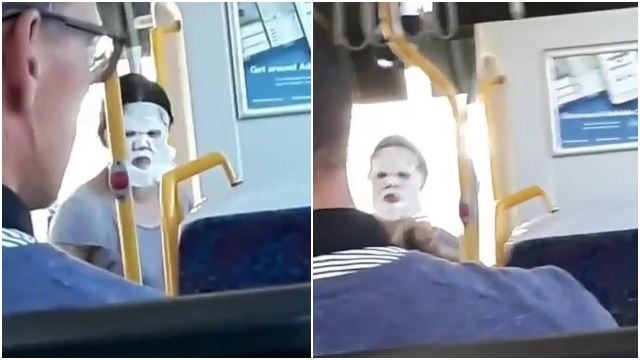 This Woman Went Viral After Being Spotted On The Bus With Her Face Mask On