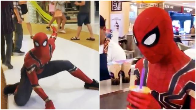 This Guy Made Everyone's Day In His Spider-Man Suit At A Mall