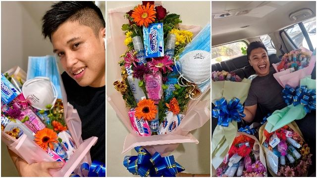 Man Makes 'Anti-COVID-19' Bouquet Just In Time For Valentine's Day