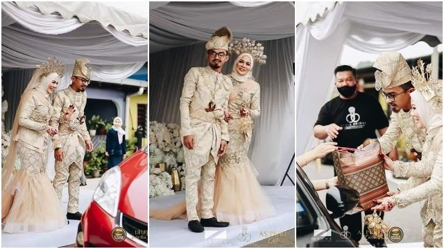 Johor Couple Has First Ever 'Drive-Thru' Wedding Amidst RMCO