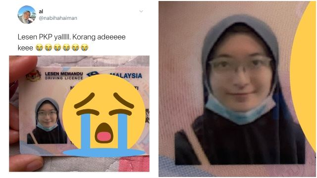 Malaysian Girl Forgets To Take Off Face Mask For Driving Licence Picture