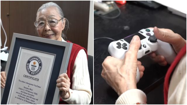 90yo Grandma Officially Dubbed As World's Oldest Gaming YouTuber!