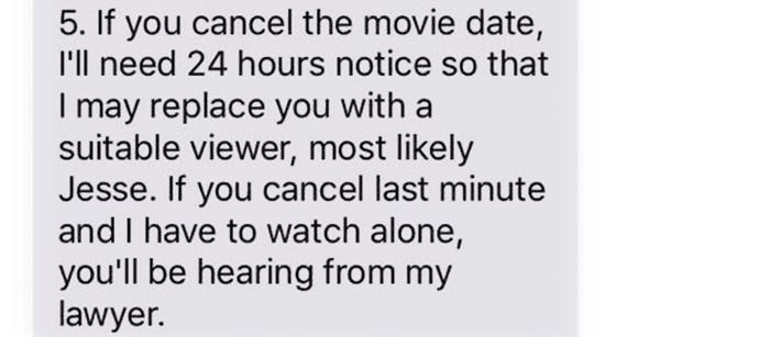 "Boyfriend Sets Strict Rules For Girlfriend Before Watching ""Infinity"