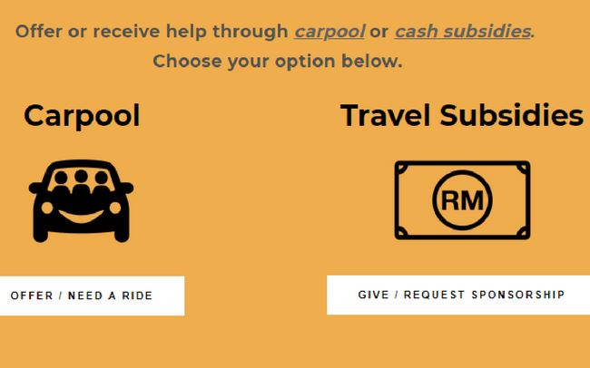 Malaysians Set Up Carpooling And Travel Subsidy Website To Help