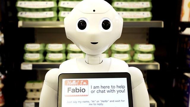this robot was fired from a supermarket because it's scaring the customers