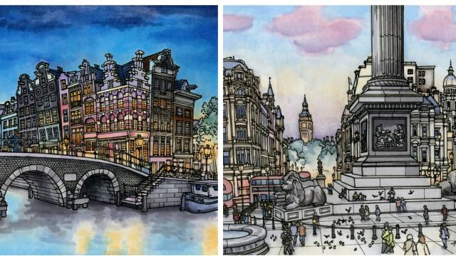This Artist Illustrates All The Cities He Has Traveled To