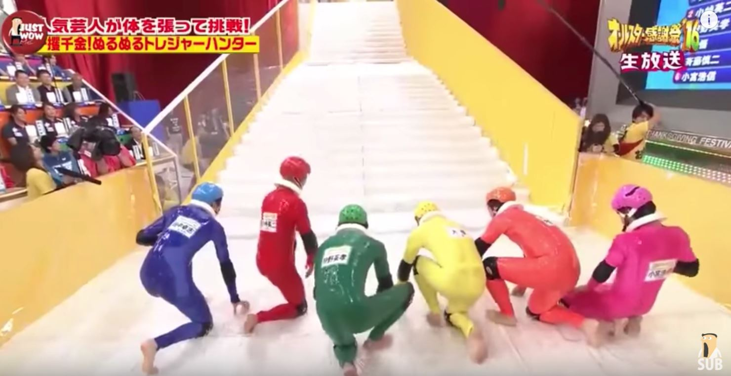 slippery stairs is an actual japanese game show and it s everything