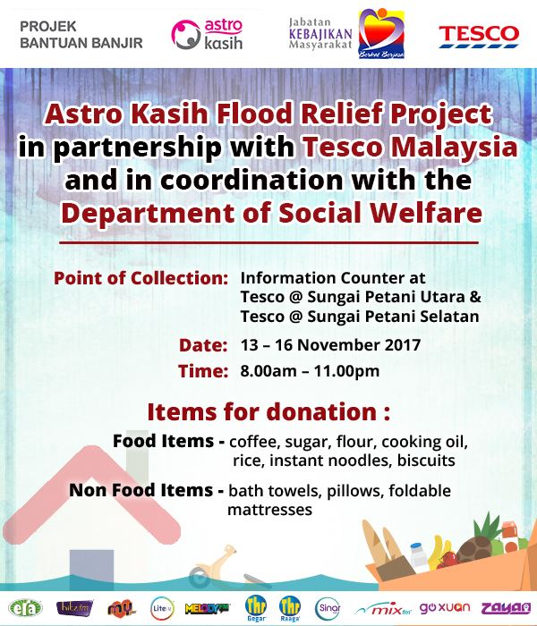 astro kasih flood relief project