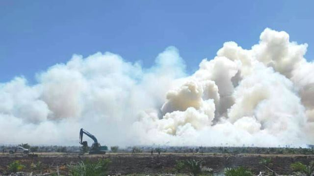 Wildfires Spread In Northern Sarawak