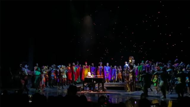 "Elton John Performs At ""The Lion King""'s 20th Broadway Anniversary"