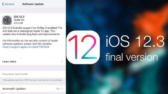 """苹果正式推出ios 12.3!支持启用""""隔空播放 2""""电视!"""