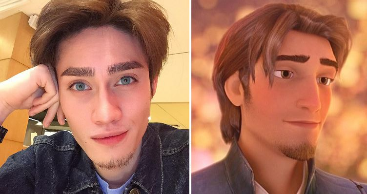"""this malaysian guy looks like the disney character from """"tangled"""""""