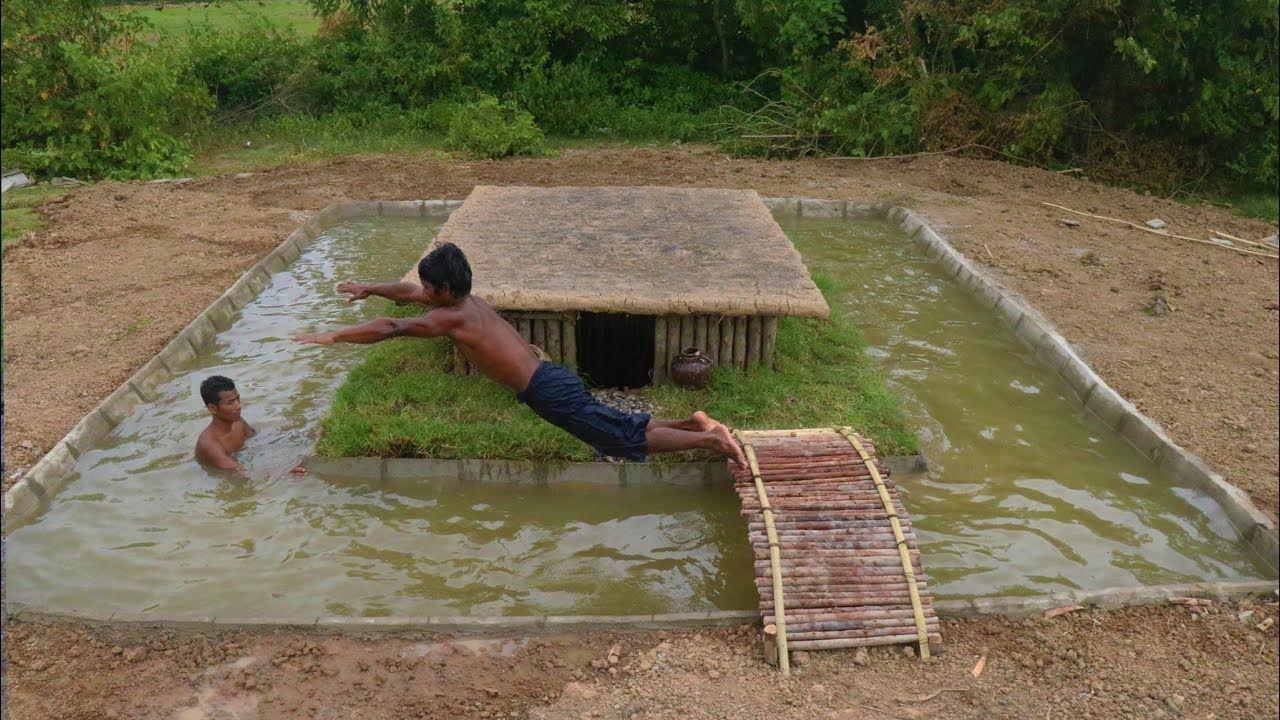 2 Guys Build Their Own Swimming Pool Around Their Underground House ...