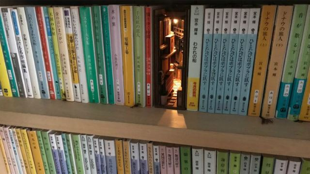 These Magical Bookshelf Inserts Make You Feel Like You're In A Secret Back Alley