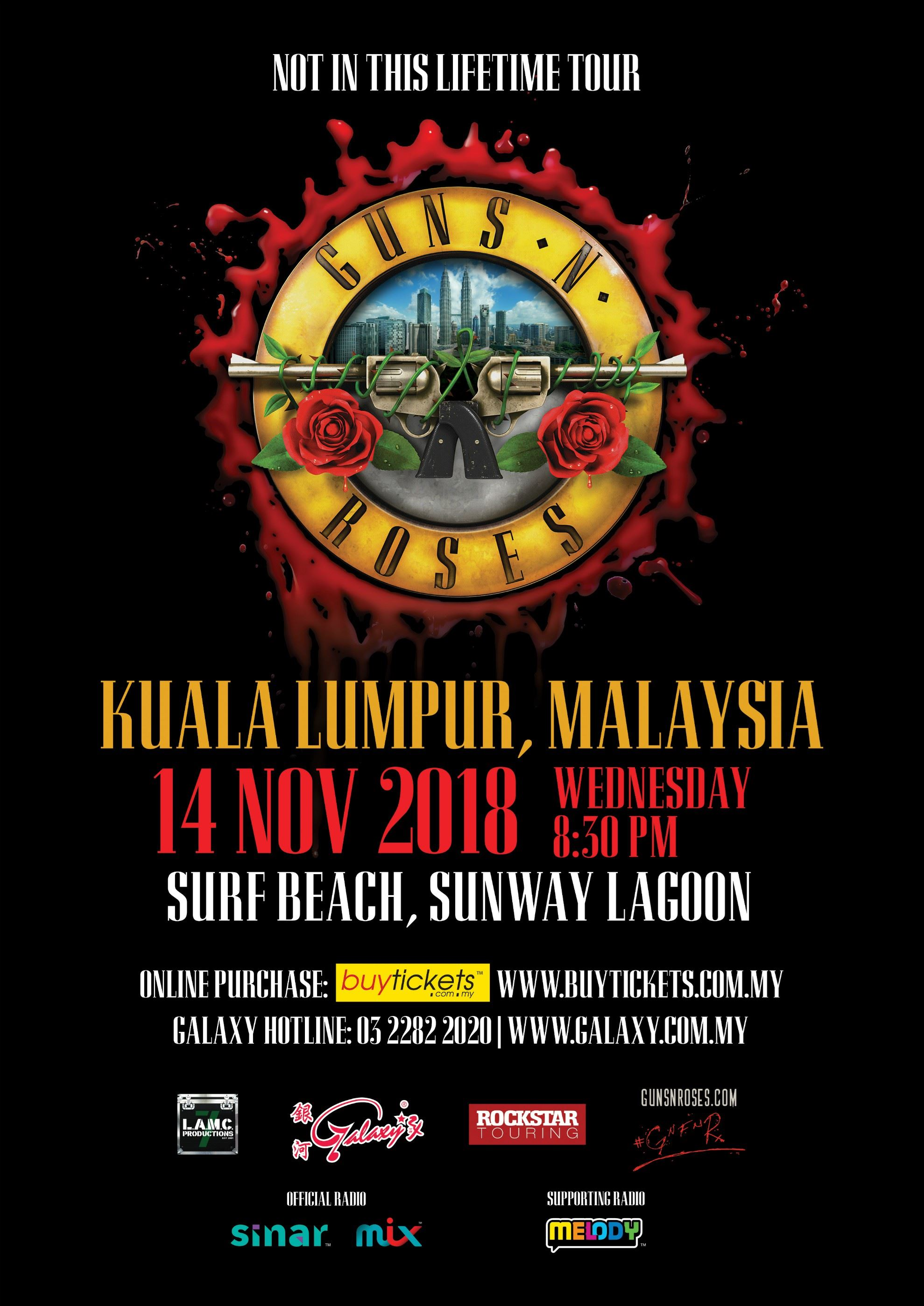 "guns n roses ""not in this lifetime"" tour (ticket giveaway)"
