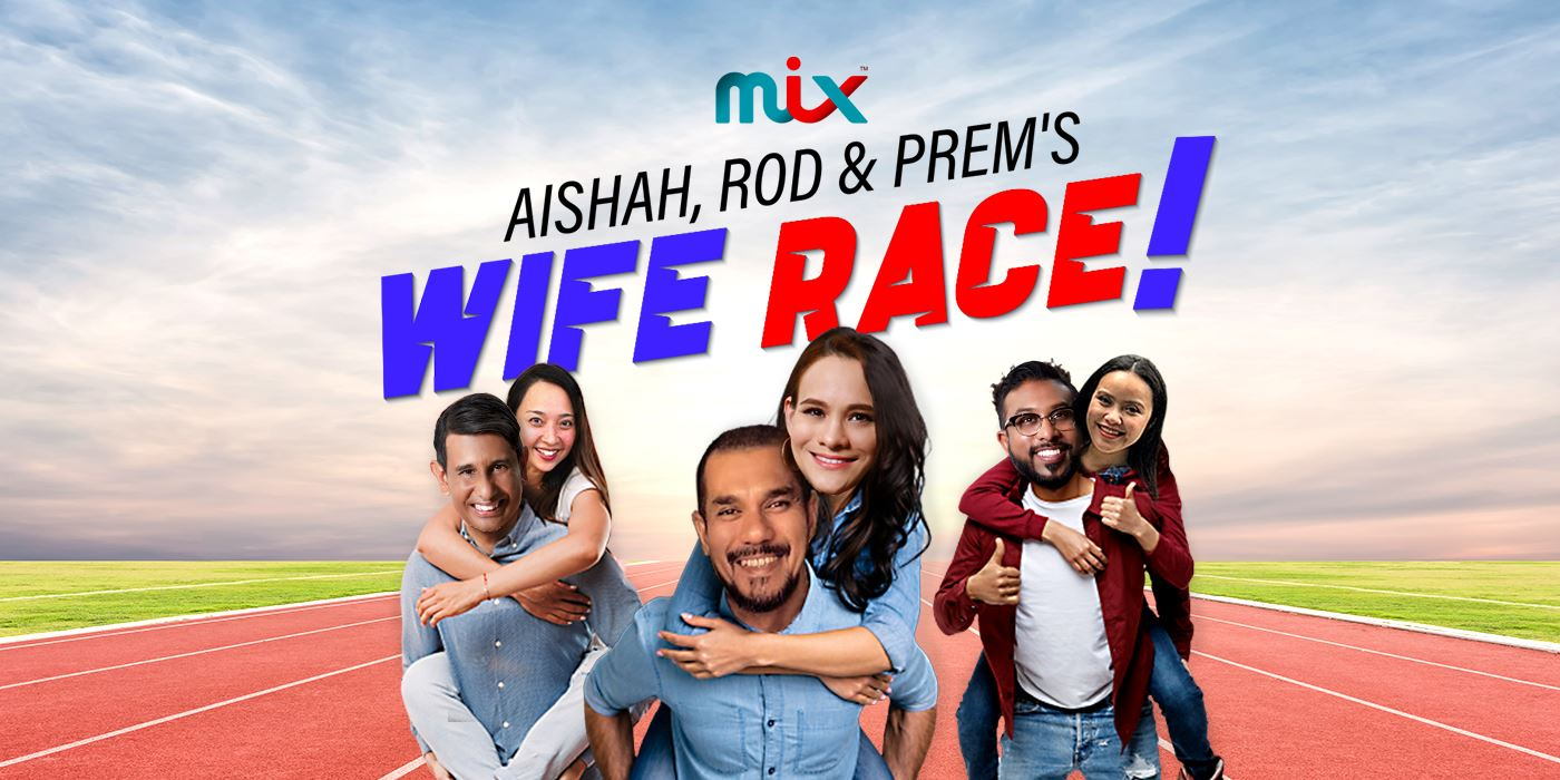 aishah, rod & prem's wife race!