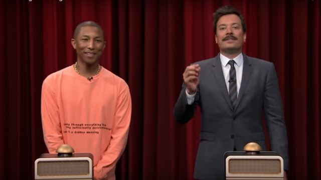 Pharrell Williams, Jimmy Fallon try to 'Name That Song'