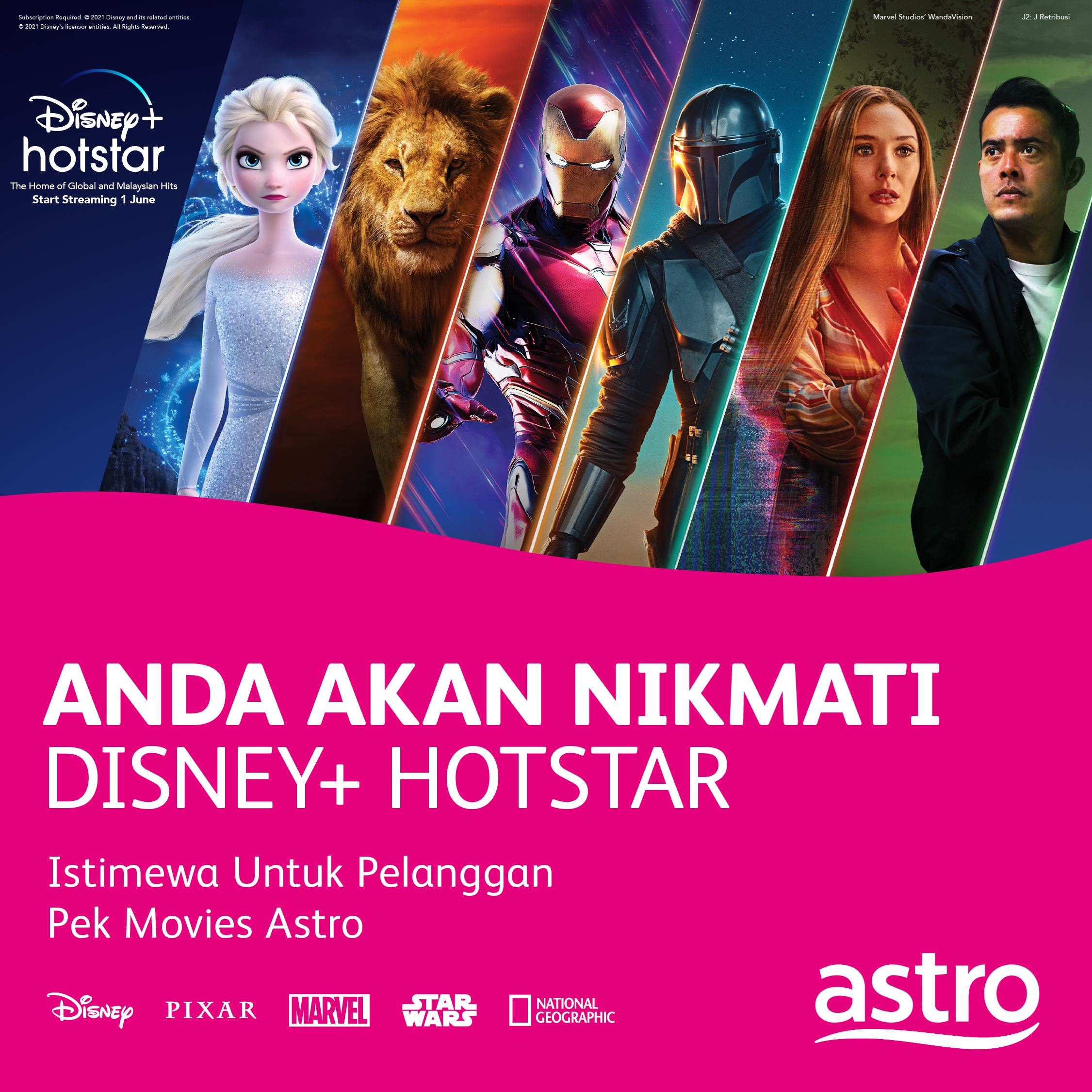 astro customers can enjoy over 800 disney films starting 1st june!