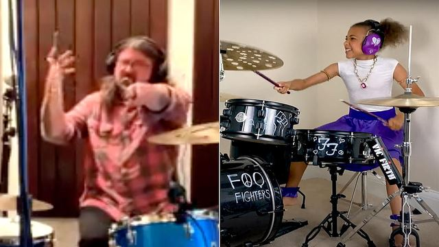 10 Year-Old Drummer Gives Foo Fighters A Tough Fight!