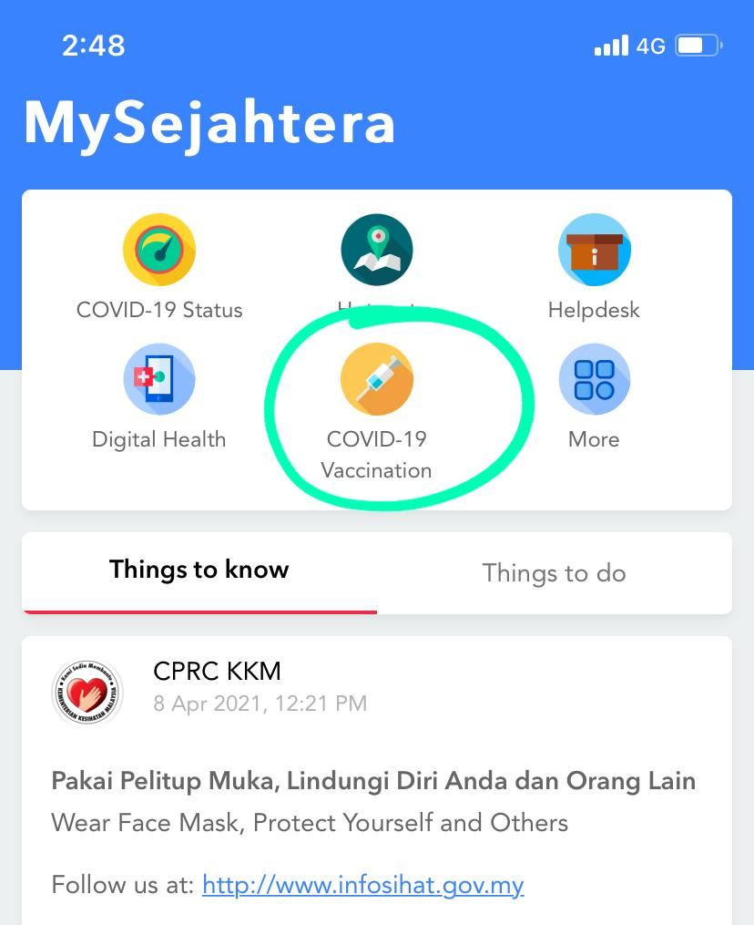 you can start checking your vaccination eligibility on the mysejahtera app!