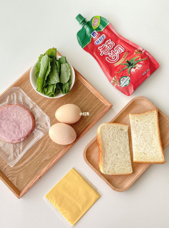 火腿芝士抱蛋三明治🥪只需5分钟就能完成🔥