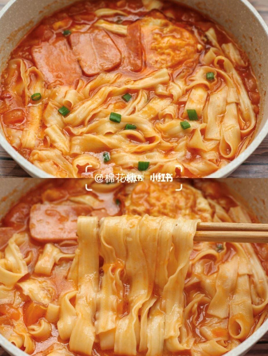 🍅番茄火腿浓汤面🍜做法大公开!好吃到舔碗底!