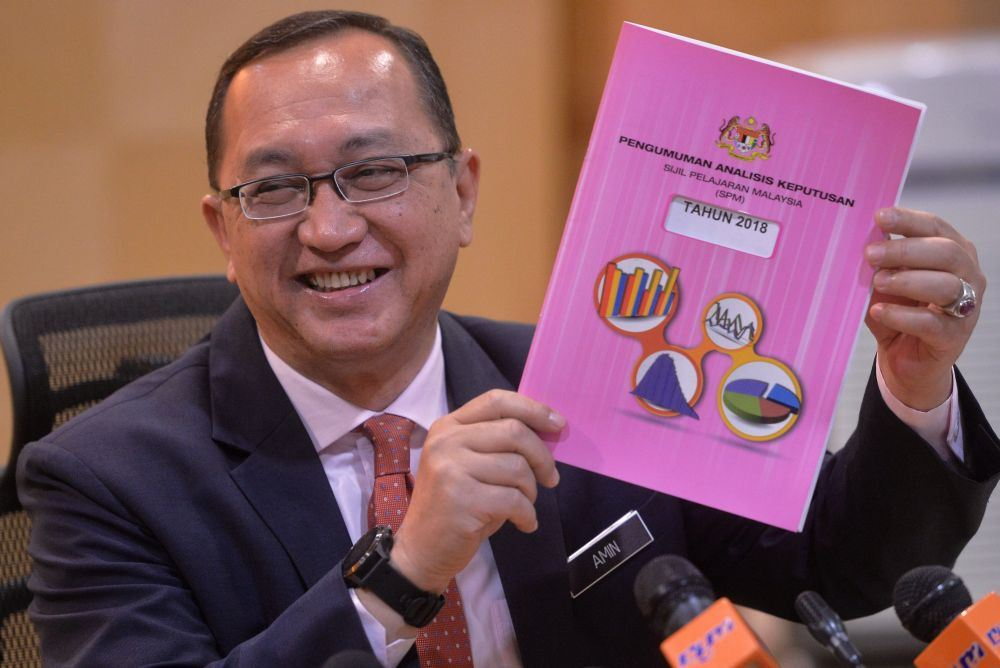 fewer straight a's among spm candidates this year!