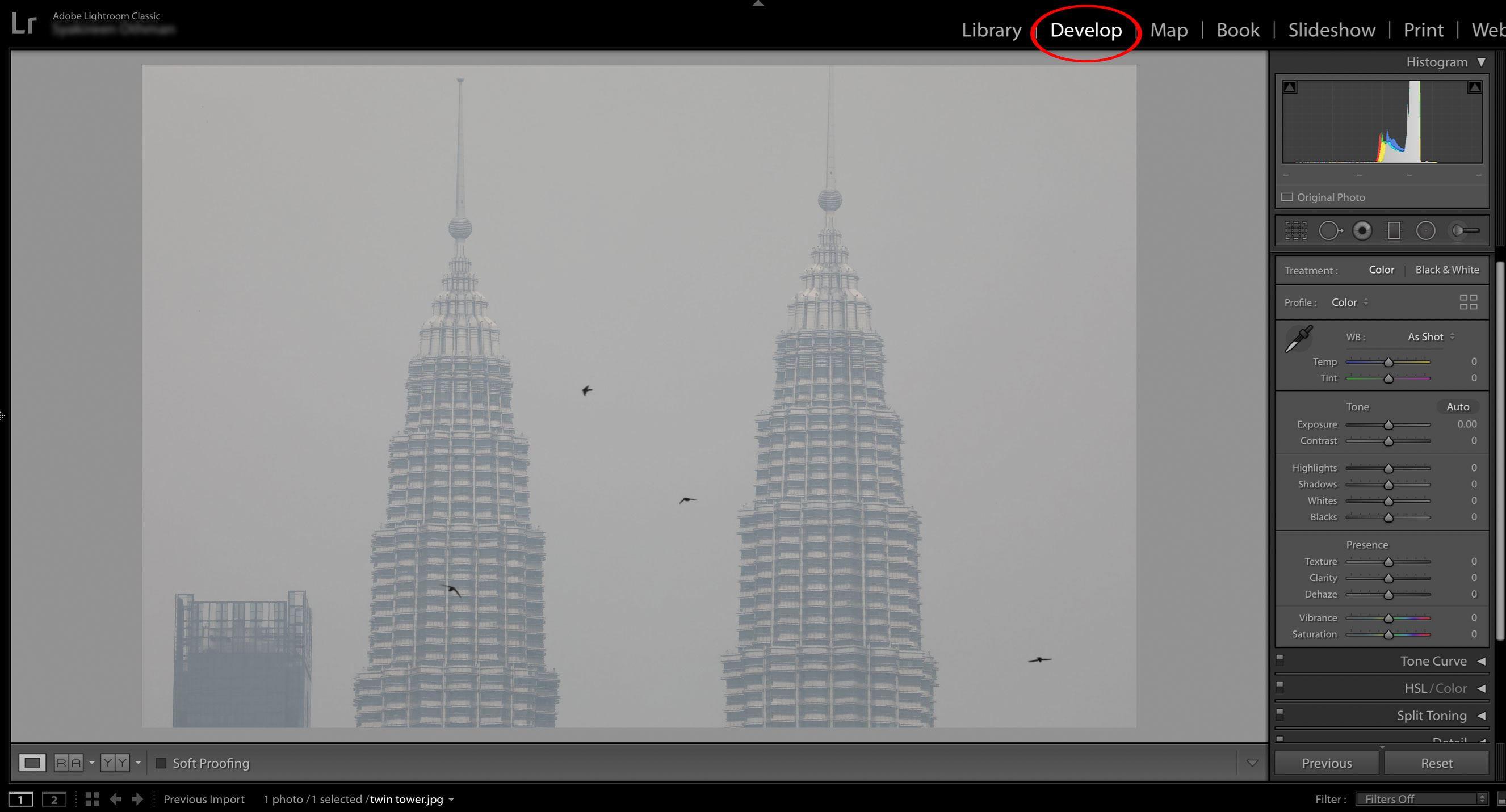 cara menghilangkan 'jerebu' dalam gambar