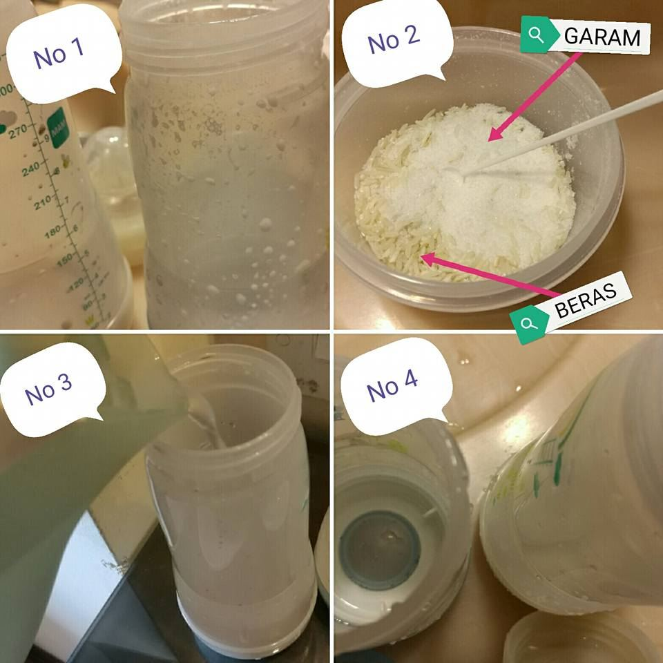 tip basuh botol susu bayi dengan bersih tanpa menggunakan berus