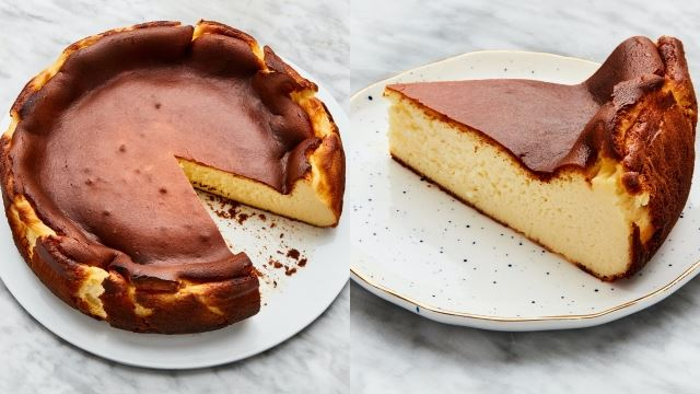 basque burnt cheesecake yang gebu dan lazat gunakan 6 bahan saja!